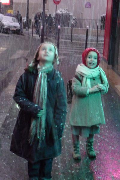 Mes petites sous la neige